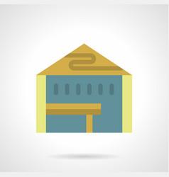 Presentation tent flat color icon vector