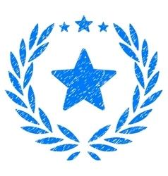Proud Emblem Grainy Texture Icon vector image