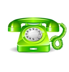 Retro green telephone vector image