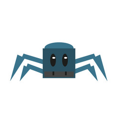 robot spyder game character vector image