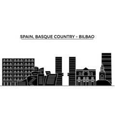 Spain bilbao basque country architecture vector