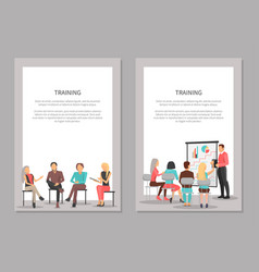 training for workers people on conference sitting vector image vector image