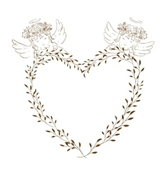 Two angels babies vector image vector image