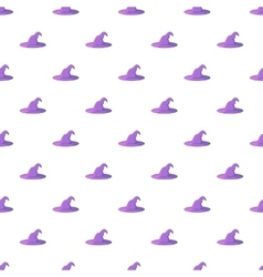 Witch hat pattern cartoon style vector