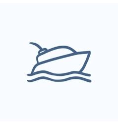 Yacht sketch icon vector image