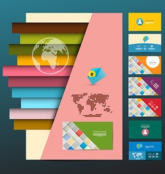 Leaflet and Business Cards Set Company Print vector image
