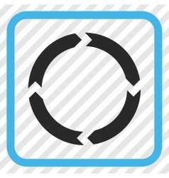 Rotation icon in a frame vector
