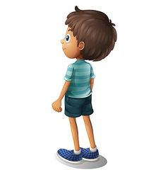 A back of a young boy vector image