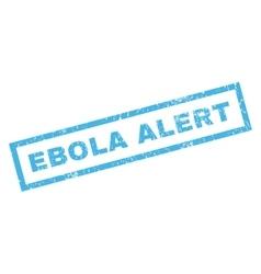 Ebola alert rubber stamp vector