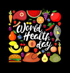 World health day concept square banner vector