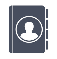 Contact book icon vector