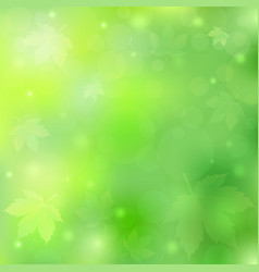 Spring or summer background with bokeh lights and vector