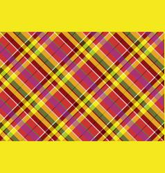 Madras colored plaid diagonal fabric texture vector