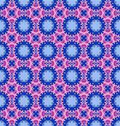 Vintage geometric floral background vector
