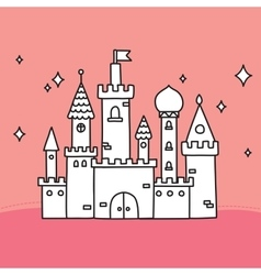 Hand drawn doodle large castle vector
