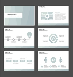Light blue presentation templates infographic set vector
