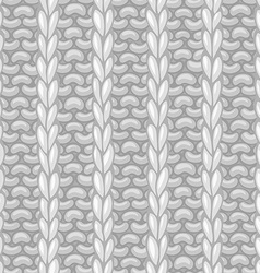 Seamless pattern in knitting style vector