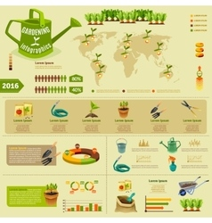 Gardening infographic layout vector