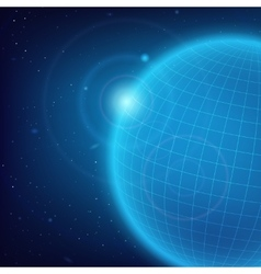 Cosmic blue background vector
