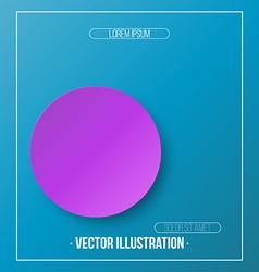 Abstract Colorful Circle with shadow Background vector image vector image