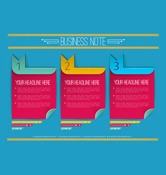Business notes infographics vector