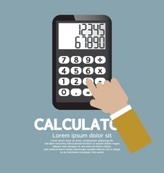 Calculator EPS10 vector image