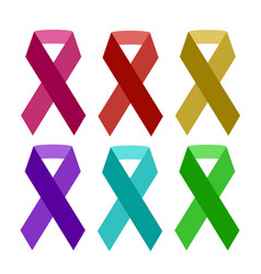 Colorful aids ribbon isolated on white vector