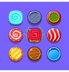 Colorful hard candy flash game element templates vector