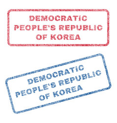Democratic people s republic of korea textile vector