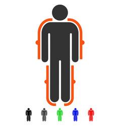 Exoskeleton flat icon vector