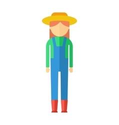 farmer woman color icon vector image vector image