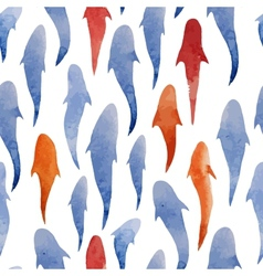Fish watercolor pattern background wallpaper vector