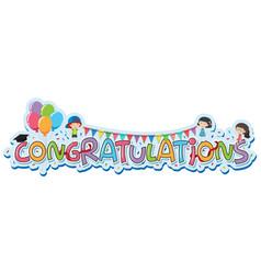 Font design for word congratulations vector