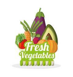 Fresh vegetables nutrition food image vector