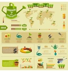 Gardening infographic layout vector