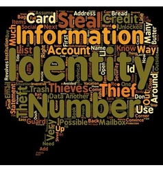 How identity thieves steal your identity text vector
