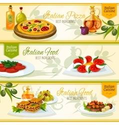 Italian cuisine banners for restaurant design vector