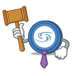Judge syscoin mascot cartoon style vector