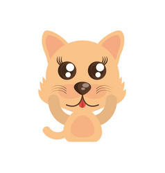 kawaii wolf animal toy vector image
