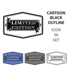 limited edition icon in cartoon style isolated on vector image