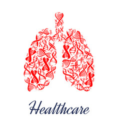 lungs organ healthcare dna symbol vector image