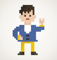 Pixel man2 vector