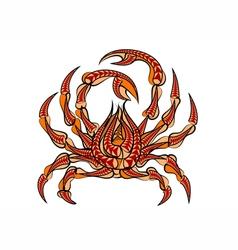 spider crab vector image vector image