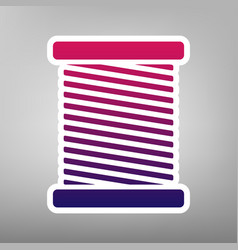 Thread sign purple gradient vector