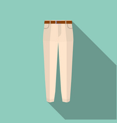 trousers icon on green modern pants vector image vector image
