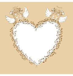 Two angels babies vector image