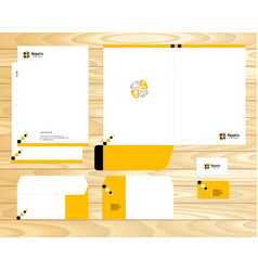 Visual brand corporate business identity vector