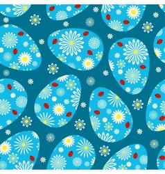 Easter dark blue seamless pattern vector image