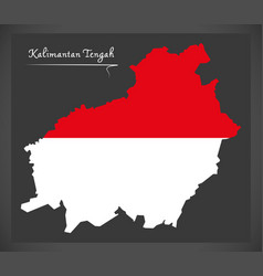Kalimantan tengah indonesia map with indonesian vector