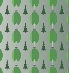 Birch and spruce vector